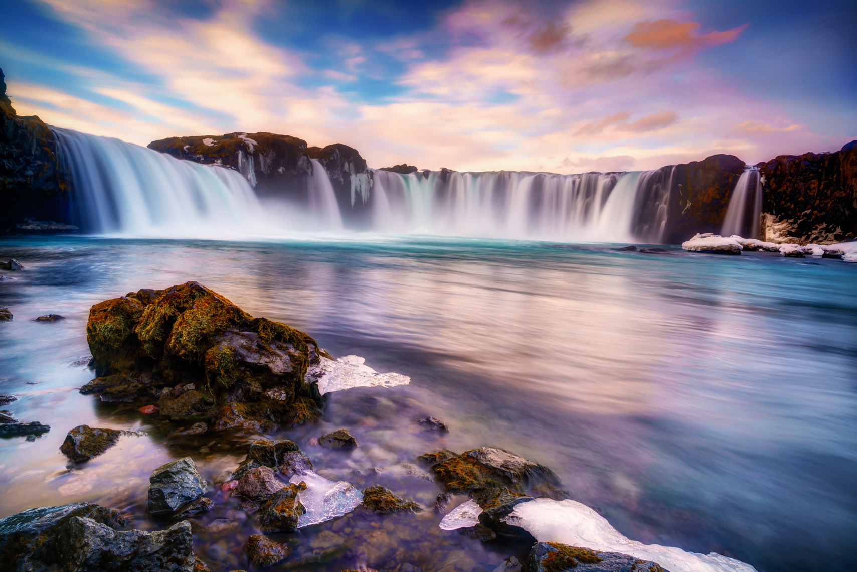 Godafoss Winter Sunrise