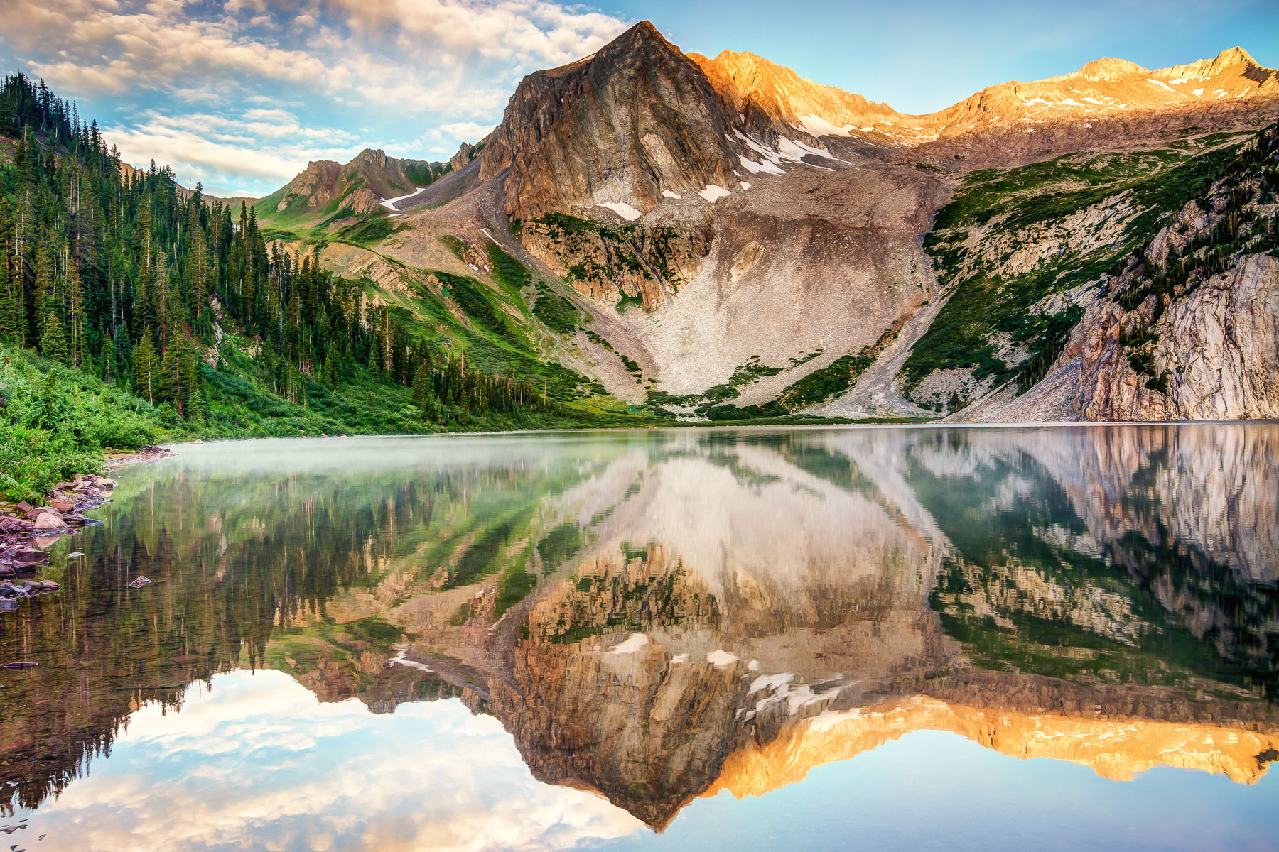 Snowmass Lake Alpenglow